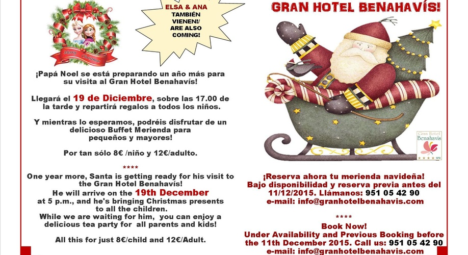 SANTA IN THE GRAN HOTEL BENAHAVÍS